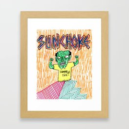 Sunchoke SUMMER 2012 COVER Framed Art Print