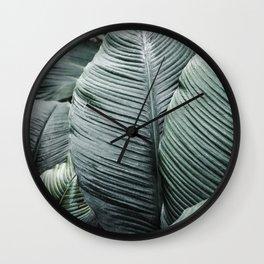 Banana Leaves Tropical Art Wall Clock