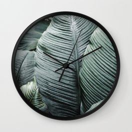 Banana Leaves Tropical Art Wall Clock