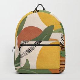 Tropical Garden Leaves 02 Backpack