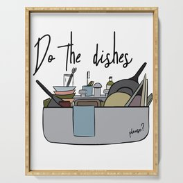 Do the dishes Serving Tray