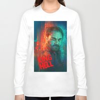 crowley Long Sleeve T-shirts featuring Crowley... MORONS! by Sempaiko