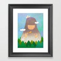 Forest giant Framed Art Print