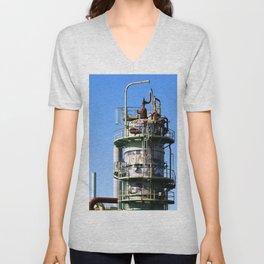 Oil Refinery Unisex V-Neck