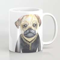gangster Mugs featuring Dog Gangster by Lucie Sperry