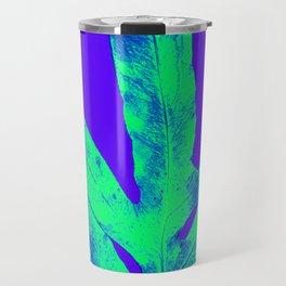 Blue Ultraviolet Green Earth Day Fern Travel Mug