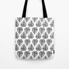 Watercolor Black Leaves Pattern Tote Bag