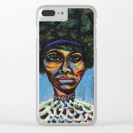 "Eunice ""Nina Simone"" Waymon Clear iPhone Case"