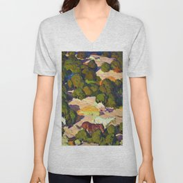Sunset in the Foothills - William Herbert Dunton Unisex V-Neck