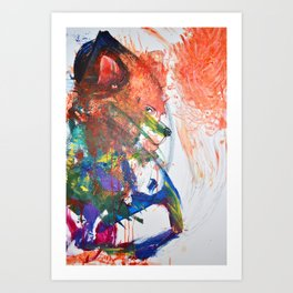 The Wily Fox | A Collaboration with my Toddler Art Print