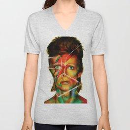 Broken Bowie Unisex V-Neck