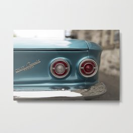 Vintage Chevy Turquoise Blue & Red Metal Print