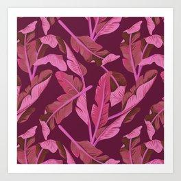 Tropical '17 - Ajaja [Banana Leaves] Art Print
