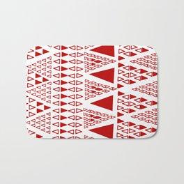 Zig Zag Pattern -  brick red Bath Mat