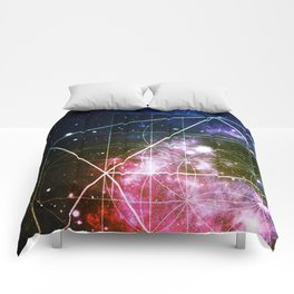 Rainbow Galaxy Sacred Geometry : Golden Rectangles Comforters