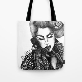 GIRL WITH A TELEPHONE Tote Bag