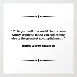 Ralph Waldo Emerson Quote Art Print