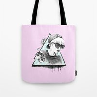 shinee Tote Bags featuring SHINee realjonghyun90  by sophillustration