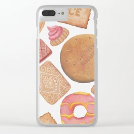 Biscuit Selection Clear iPhone Case
