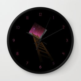 Escape to heaven - pink Wall Clock