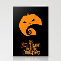 nightmare before christmas Stationery Cards featuring The Nightmare before Christmas by Citron Vert