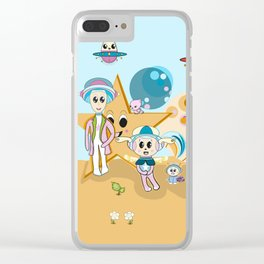 Stardust Adventures Clear iPhone Case