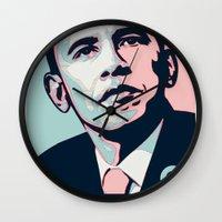 obama Wall Clocks featuring Obama LGBT by HUMANSFOROBAMA