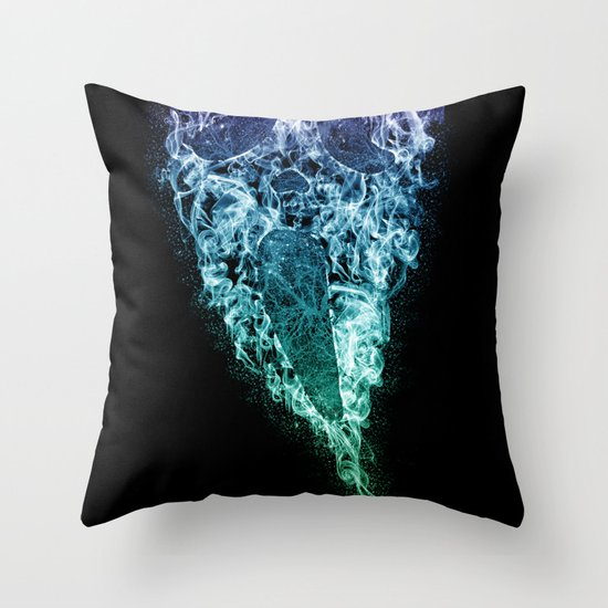 Death (Color) Throw Pillow