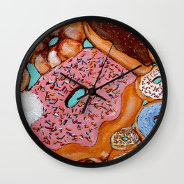 Donut Test Me Wall Clock