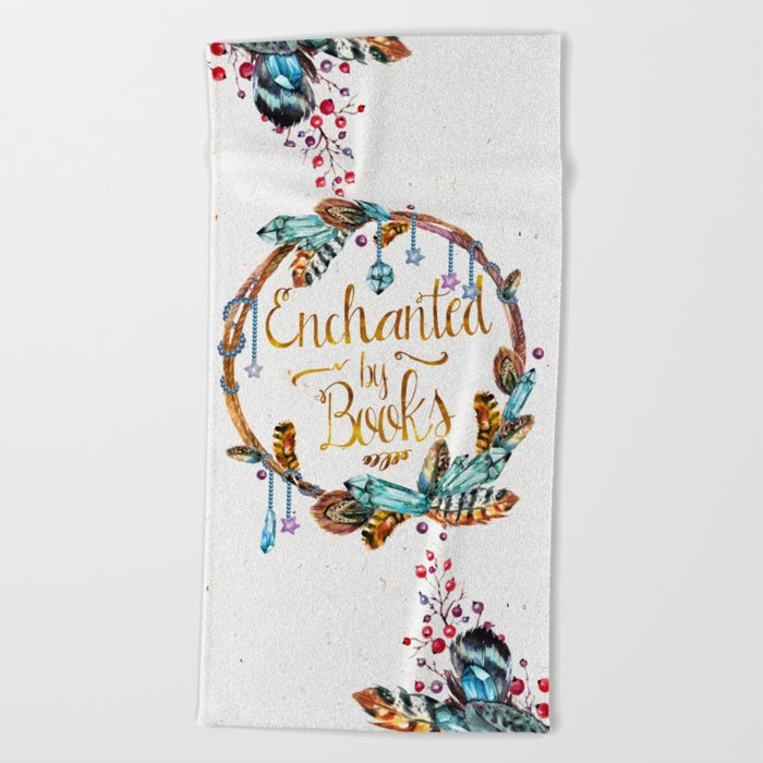 Enchanted by Books Beach Towel