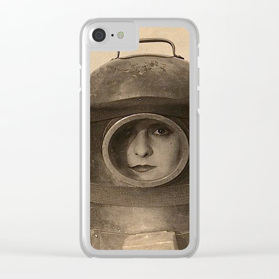 Scaphandre vintage photo Clear iPhone Case