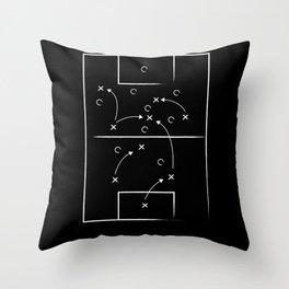 Soccer tactic Throw Pillow