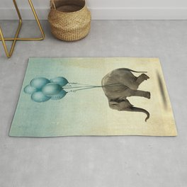 Levitating Elephant Rug