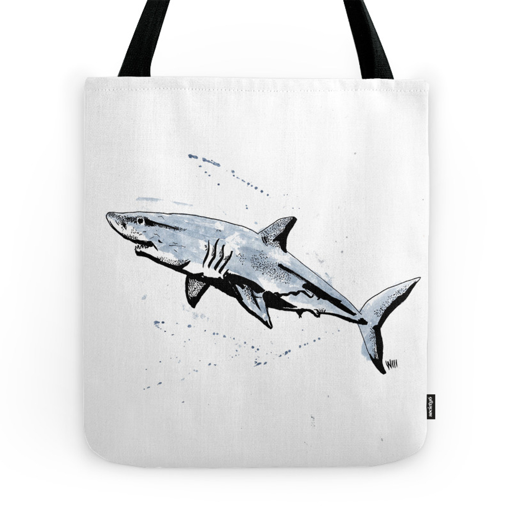 Great White Shark Tote Purse by williamredgrove (TBG7439042) photo