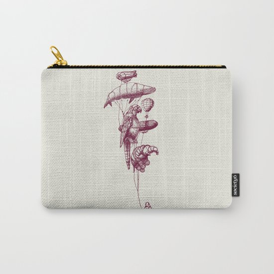 The Helium Menagerie (merlot)  Carry-All Pouch