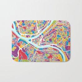 Pittsburgh Pennsylvania Street Map Bath Mat