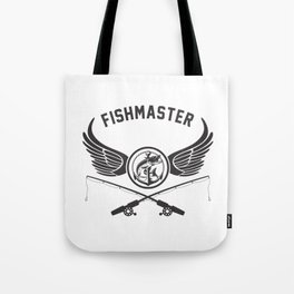 Fishmaster Fishing Badge Tote Bag