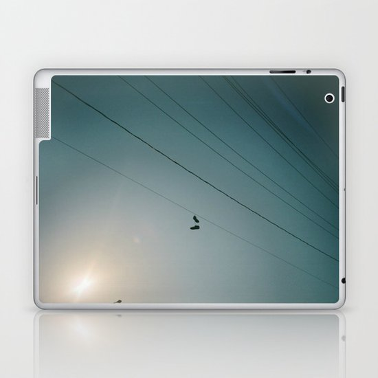 Shoes on a wire Laptop & iPad Skin