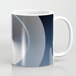 Serene Simple Hub Cap in Blue Coffee Mug
