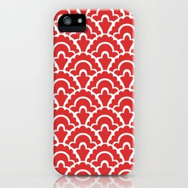 Fan Pattern Red 118 iPhone Case