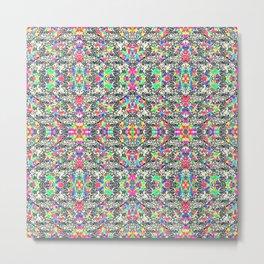 colorful black mosaic Metal Print