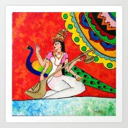 Saraswathi Art Print