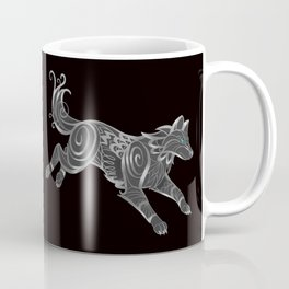 Shimmering Silver Ghost Wolf Coffee Mug