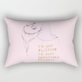 I'm not flirting, I'm just awkwardly friendly Rectangular Pillow