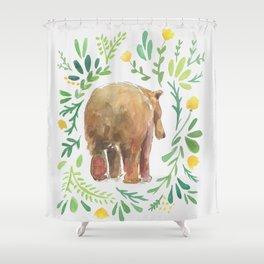 Watercolor Bear Shower Curtain