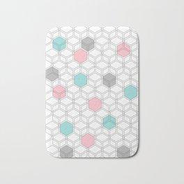 Hexagon nordic pattern Bath Mat
