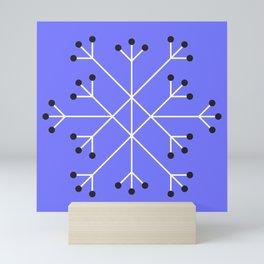 Mod Snowflake Purple Mini Art Print