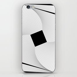 Squares 2 Black and White iPhone Skin