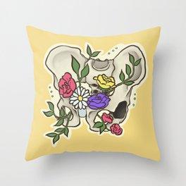 Flowery Pelvis Throw Pillow