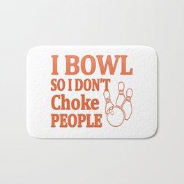 Bowl Don't Choke People Bath Mat